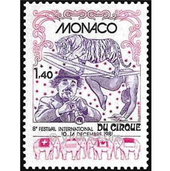 n° 1298 -  Selo Mónaco Correios