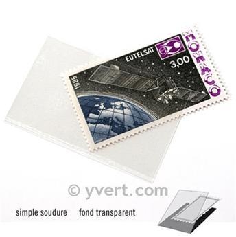 Pochettes simple soudure - Lxh:53x32mm (Fond transparent)