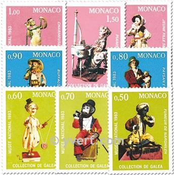 n.o 1377/1384 -  Sello Mónaco Correos