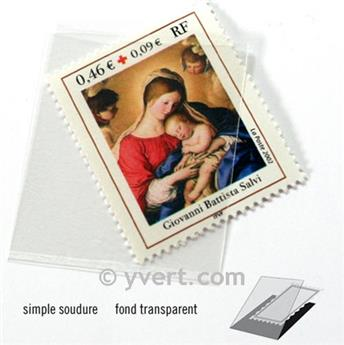 Protetores soldura simples -  LxA: 30 x 36 mm (Fundo transparente)