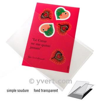 Pochettes simple soudure - Lxh:148x105mm (Fond transparent)