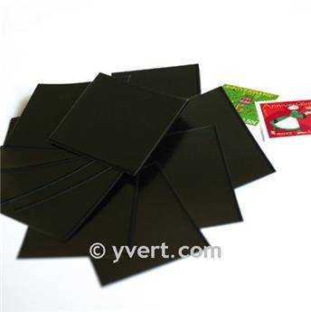 Pochettes simple soudure - Lxh:48x53mm (Fond noir)