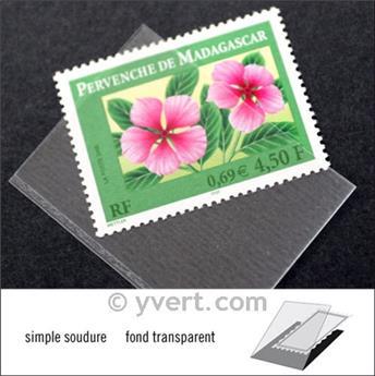 Pochettes simple soudure - Lxh:42x31mm (Fond transparent)