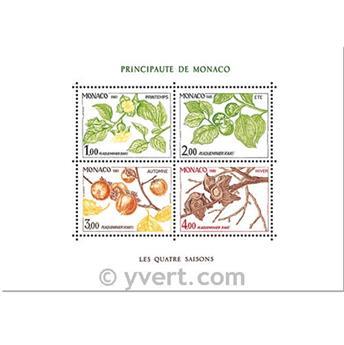 n.o 20 -  Sello Mónaco Bloque y hojitas