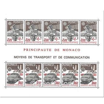 n.o 41 -  Sello Mónaco Bloque y hojitas