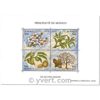 n.o 60 -  Sello Mónaco Bloque y hojitas