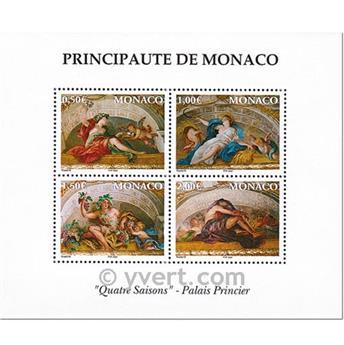 n.o 87 -  Sello Mónaco Bloque y hojitas