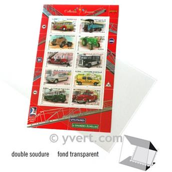 Pochettes double soudure - Lxh:108x183mm (Fond transparent)
