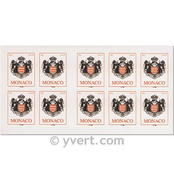 n° 15 -  Timbre Monaco Carnets