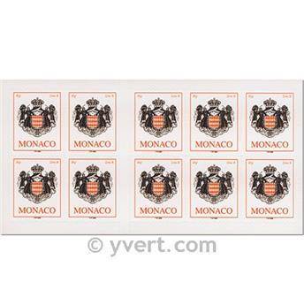 nr. 15 -  Stamp Monaco Booklet Panes