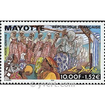 n° 4 -  Timbre Mayotte Poste aérienne
