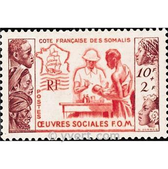 n° 283 -  Timbre Cote des Somalis Poste