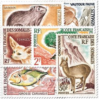 n° 305/310 -  Selo Somalilândia Francesa Correios