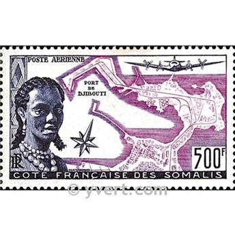 n.o 25 -  Sello Somalia francesa Correo aéreo