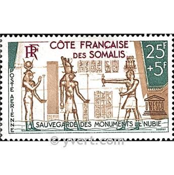 n.o 37 -  Sello Somalia francesa Correo aéreo