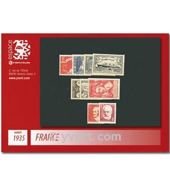 n° 299/308  - Sello Francia Año completo  (1935)