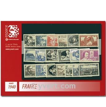 n° 451/469  - Selo França Ano completo  (1940)