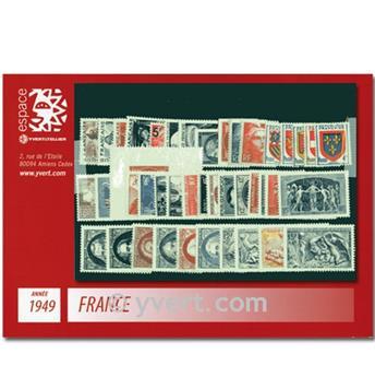 n° 823/862  - Sello Francia Año completo  (1949)