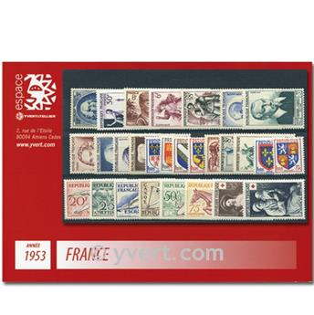n° 940/967  - Timbre France Année complète  (1953)