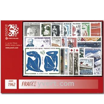 n° 1325/1367  - Sello Francia Año completo  (1962)