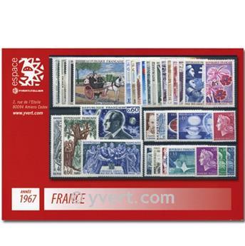 n° 1511/1541  - Selo França Ano completo  (1967)