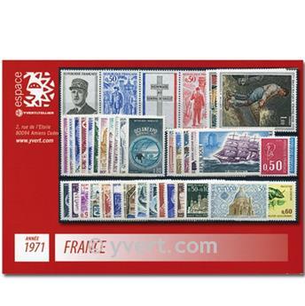 n° 1663/1701  - Selo França Ano completo  (1971)