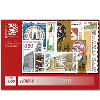 n° 2615/2675  - Selo França Ano completo  (1990)
