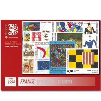 n° 2854/2917  - Selo França Ano completo  (1994)