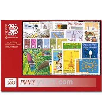n° 3538/3631  - Timbre France Année complète  (2003)