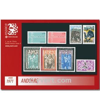 n° 209/216 -  Timbre Andorre Année complète (1971)