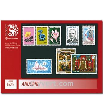 n° 243/250 -  Timbre Andorre Année complète (1975)