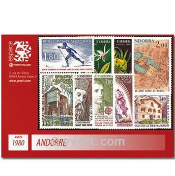 n° 282/290 -  Selo Andorra Ano completo (1980)