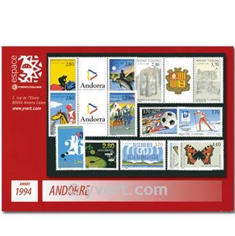 n° 441/453 -  Selo Andorra Ano completo (1994)