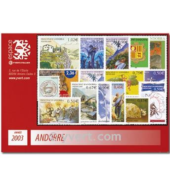 n.o 575/590 -  Sello Andorra Año completo (2003)
