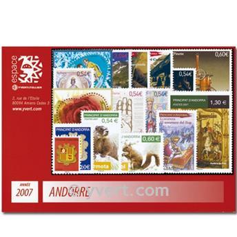 n° 633/648 -  Selo Andorra Ano completo (2007)