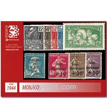 n° 265/273 -  Timbre Monaco Année complète (1944)