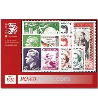 n° 338/350 -  Selo Mónaco Ano completo (1950)