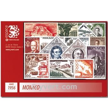 n° 441/477 -  Selo Mónaco Ano completo (1956)