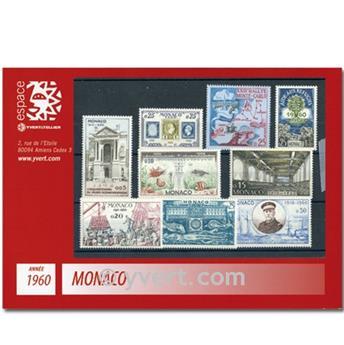 n° 523/550A -  Selo Mónaco Ano completo (1960)