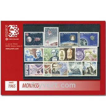 n° 664/676 -  Selo Mónaco Ano completo (1965)