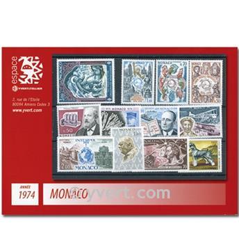 n° 953/1002 -  Selo Mónaco Ano completo (1974)