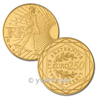 250 EUROS OR - FRANCE 2009 - SEMEUSE