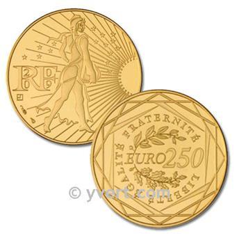 250 EUROS OR - FRANCE 2009 - SEMEUSE