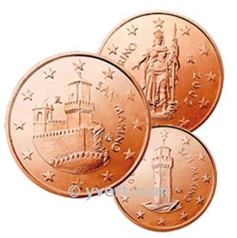1 - 2 & 5 cents : SAN-MARIN 20061 - 2 & 5 cents : SAN-MARIN 20061 - 2 y 5 cts.: SAN MARINO 2006