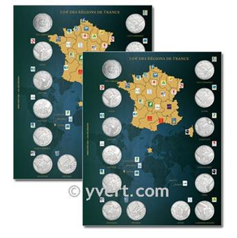 10€ COMMEMORATIVES ´Regions de france´ Inserts - 2010