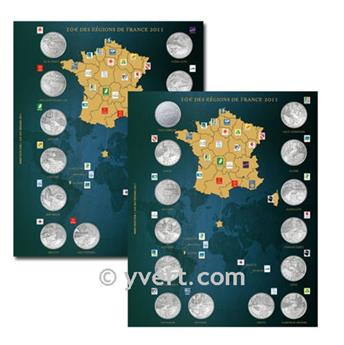10€ COMMEMORATIVES ´Regions de france´ Inserts - 2011