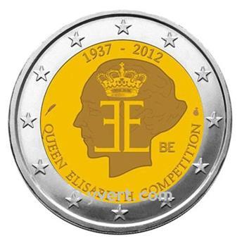 2 EURO COMMEMORATIVE 2012 : BELGIQUE (75e anniversaire du concours musical international de la Reine Elisabeth de Belgique)