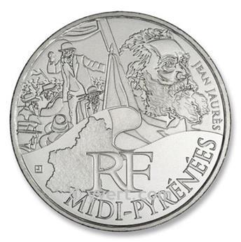 10 € DE LAS REGIONES - Midi-Pyrénées - 2012