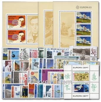 1983** - Année complète neuf EUROPA