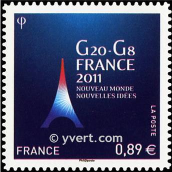 n.o 598 -  Sello Francia Autoadhesivos